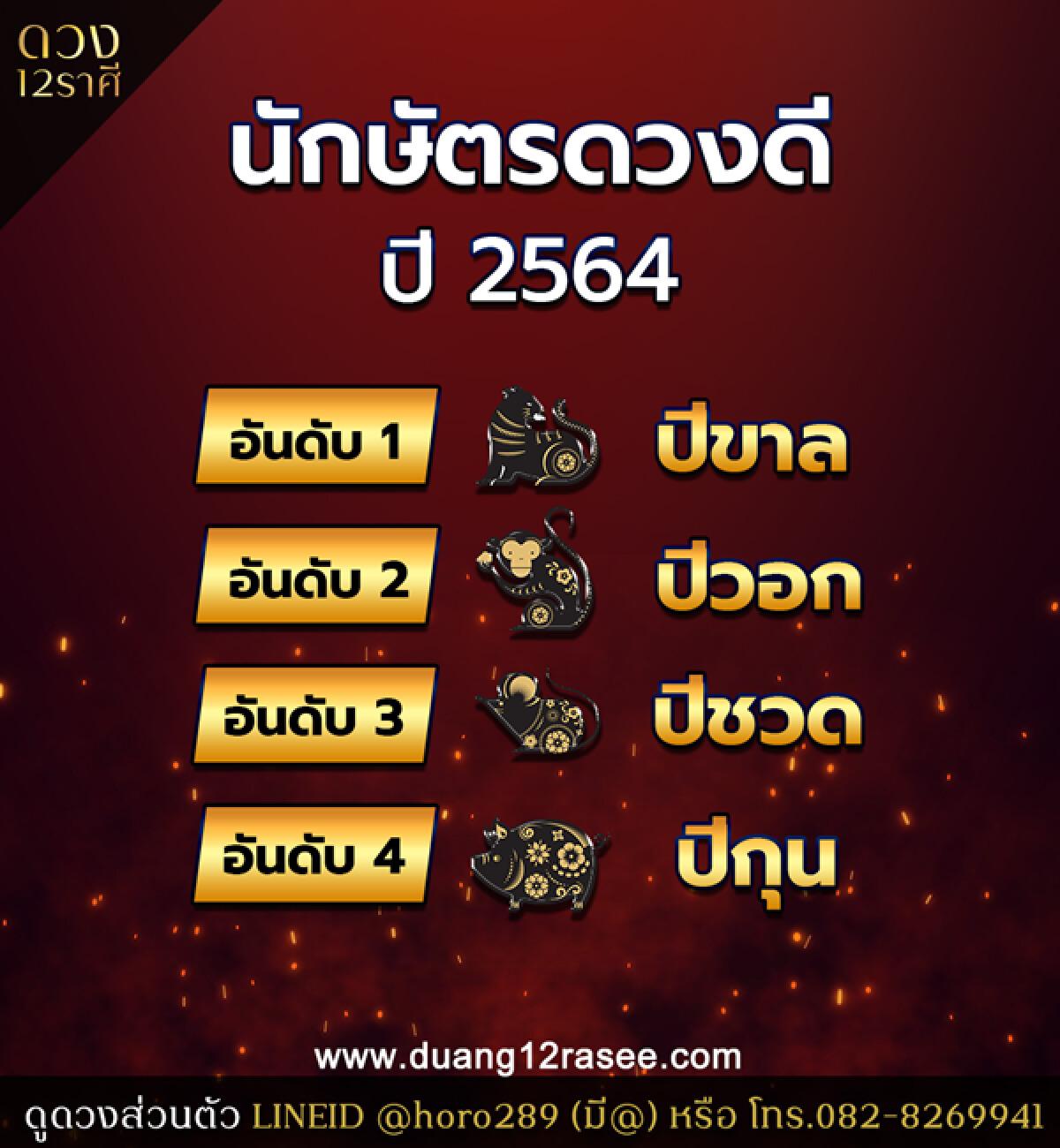 อาจารย์ออย เผย 4 อันดับปีนักษัตรดวงเฮง ดวงดี ประจำปี 2564