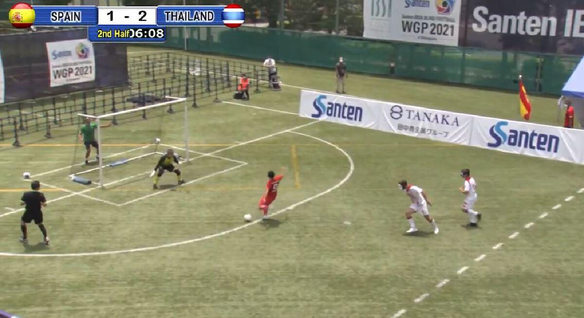 """แข้งคนตาบอดทีมชาติไทย ปราบสเปน3-2 ประเดิมคว้าชัย """"ศึกปรีพาราลิมปิกเกมส์"""""""