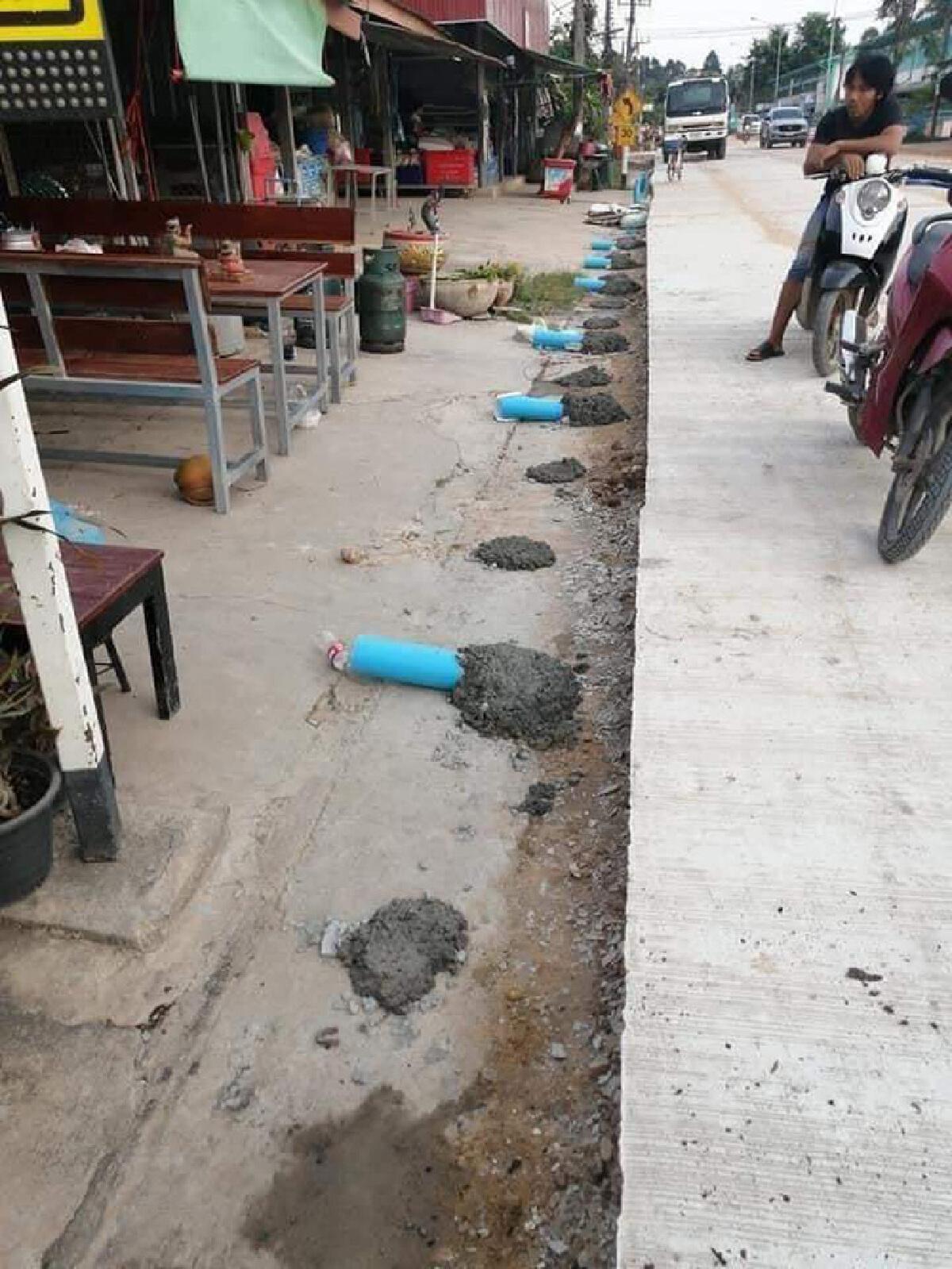 ชาวบ้านปวดขมับ แฉภาพ ท่อระบายน้ำทิพย์ ระยะทางก่อสร้าง 1 กม. งบประมาณ 10 ล้าน