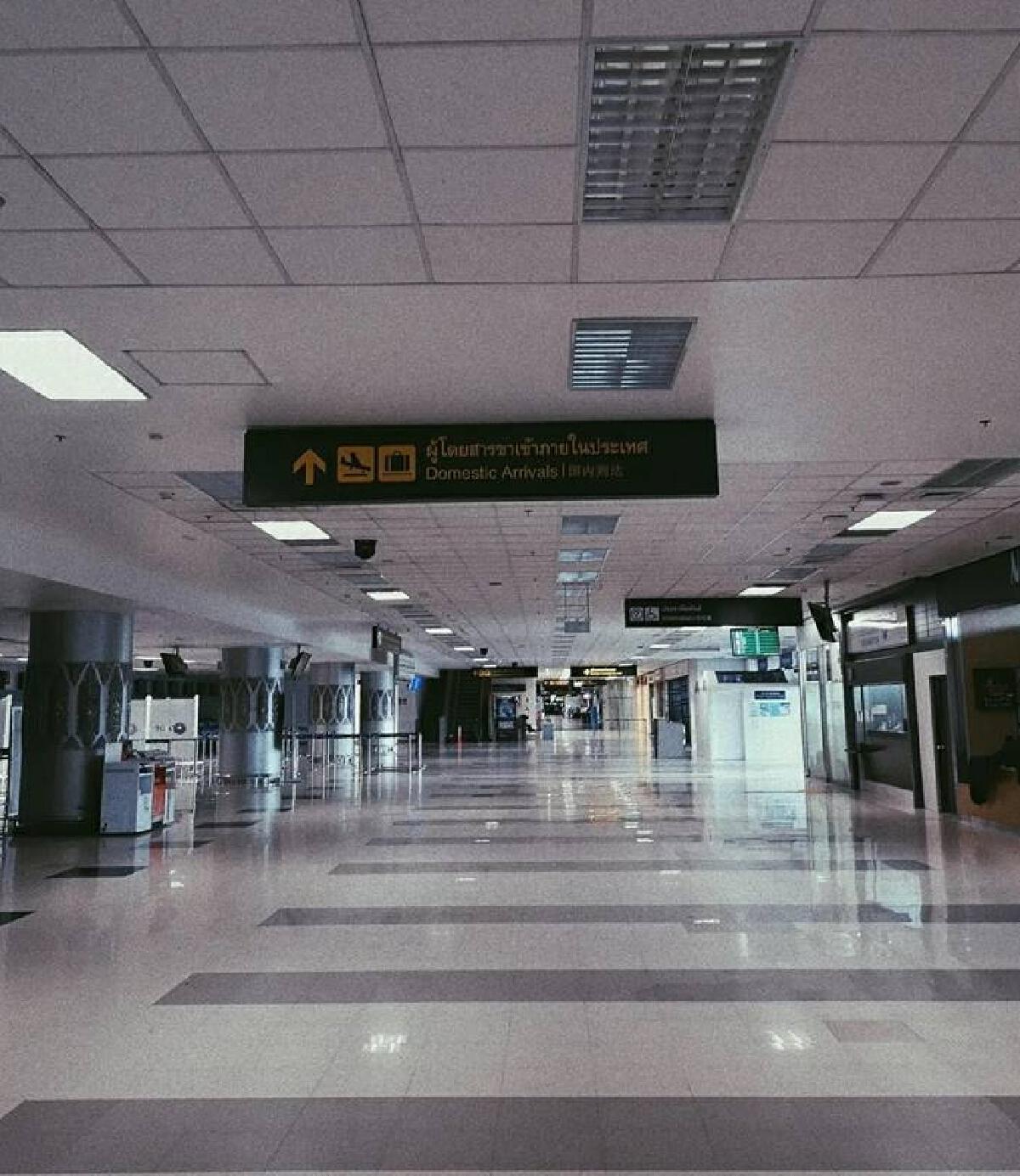 เปิดภาพบรรยากาศ สนามบินเชียงใหม่ ปัจจุบันร้างไร้ผู้คน