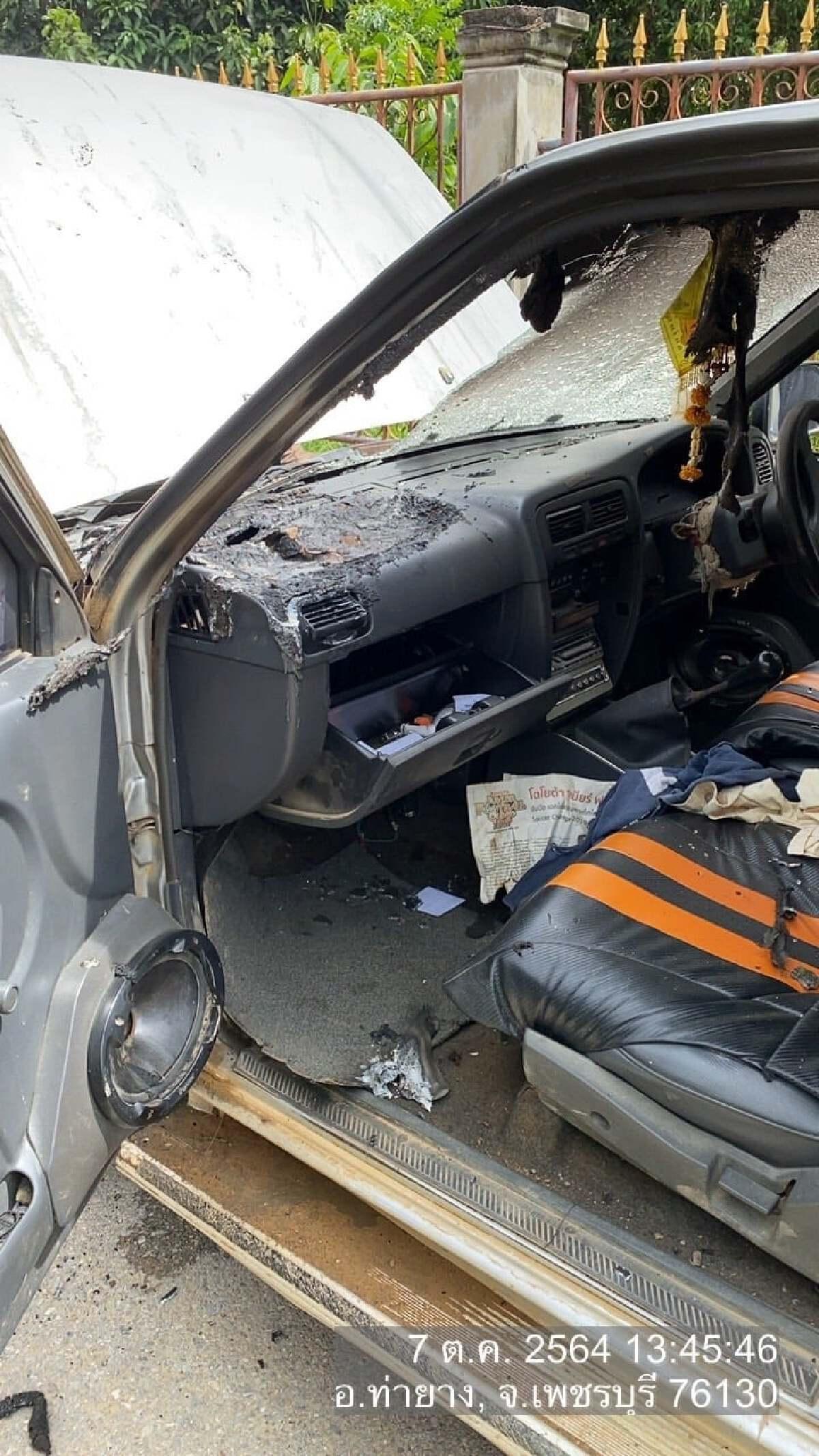 เตือนห้ามวางพาวเวอร์แบงค์ไว้หน้ารถเด็ดขาด สุดท้ายไฟไหม้ท่วม