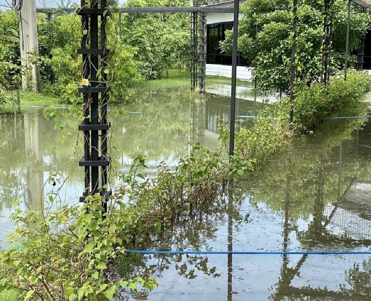 น้ำท่วมเต็มสนามโรงเรียนนานาชาติระดับพันล้าน