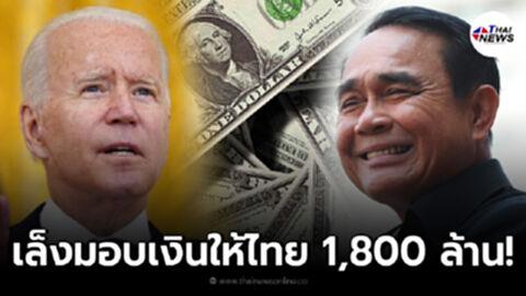 รัฐบาลสหรัฐฯ เตรียมมอบเงินให้ไทย 1,800 ล้าน แก้ปัญหามนุษยธรรม รับมือโควิด